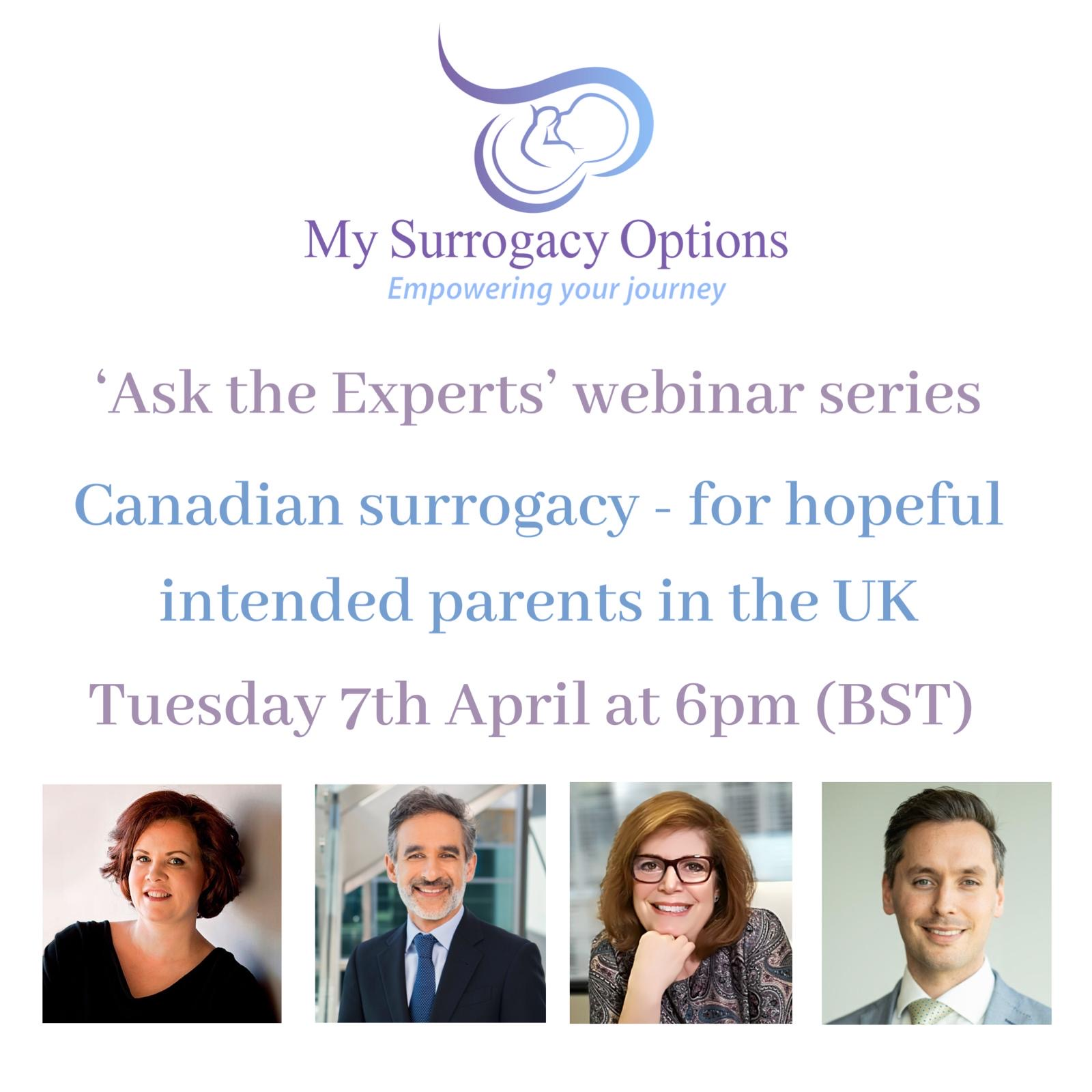 7th April - Ask the Experts: Canadian Surrogacy: For ...